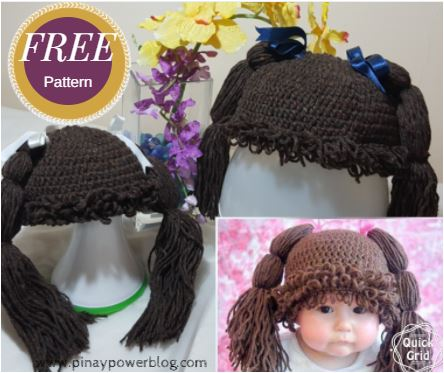 CABBAGE PATCH DOLL HAT – FREE PATTERN – Pinay Power 760919210fc